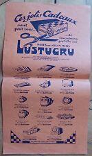 Affiche publicitaire Lustucru Ces jolis cadeaux pates aux oeufs frais Lustucru