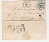 STORIA POSTALE - 1863 REGNO LITOGRAFICO C.15 I° TIPO E/2967