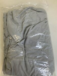 POTTERY BARN DORM MICROFIBER LIGHT GRAY PINTUCK STANDARD SHAM
