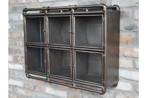 Industrial Metal Wall Shelf Unit - Pipework Frame Retro Industrial Design