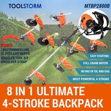 4-STROKE Backpack Brushcutter Trimmer Whipper Snipper Brush Cutter Multi Tool