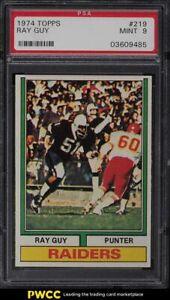 1974 Topps Football Ray Guy ROOKIE RC #219 PSA 9 MINT