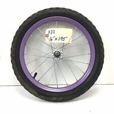 "Complete 16"" Front Purple Bicycle Wheel w/ 1.95"" Tire - Mini-BMX Bike #k32"