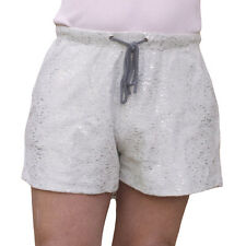 PALE GREY SIZE 14 SHORTS WITH SILVER GLITTER THREAD NEW
