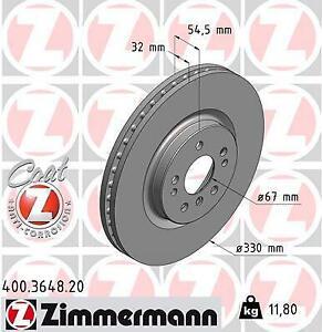 Fits Mercedes Benz Front Brake Discs (Pair) OEM W251 R350 R500 Zimmermann