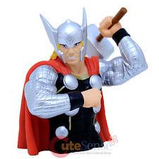 "Marvel Avengers Thor Bust Figure Coin Bank - 8"" 3D Figure Silver Suit"