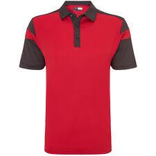 Callaway 2016 Mens Chev Blocked Golf Polo Shirt Tango Red Small