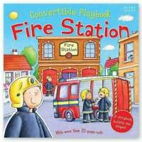 Miles Kelly Convertible Fire Station 3 in 1 Storybook Building and Playmat Book