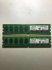 Crucial 2x2GB UDIMM 800 MHz PC2-6400 DDR2 SDRAM Memory (CT25672AA80EA)
