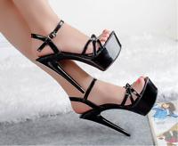 Womens Platform Ankle Strap Sandals Pumps Stilettos High Heels Party Shoes Size