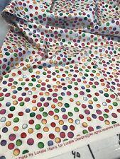 Loralie Harris Big Fun Dots Fabric 2006 Polka Dot Quilting Cotton 1 Yd White F14