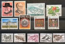 Iceland Year Set 1980 Complete - All Issues - Used - XF/VF