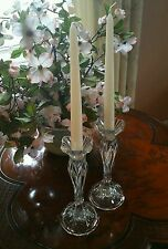 Cristal D'Arques JG  Durand Crystal Candle Holders Tulip Shape Calliope CDA
