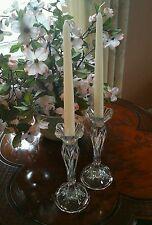Cristal D'Arques JG  Durand Crystal Candle Holders Tulip Shape Calliope CDA