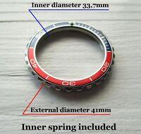 Vostok watch Pepsi bezel custom Amphibia & Komandirskie Stainless steel +Insert