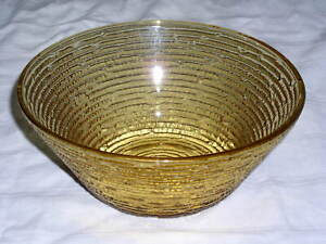 Anchor Hocking HONEY GOLD SORENO Pattern Small Chip / Salad Serving Bowl