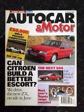 AUTOCAR MAGAZINE 27-MAR-91 - Saab CD Carlsson, Mitsubishi Colt GTi, Mazda 323 GT