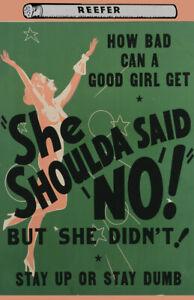 Vintage Anti-Marijuana Reefer 11 x 17 Reproduction Poster