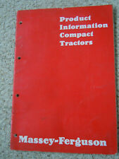@Massey Ferguson Compact Tractors Product Information Manual@