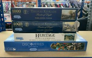Gibsons Jigsaw Puzzles X 4 Used Good Condition (A)(A)