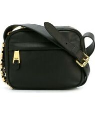 Moschino Milano logo plaque crossbody bag -calf leather- black