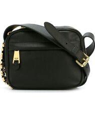 Moschino Milano logo plaque crossbody bag -calf leather- black