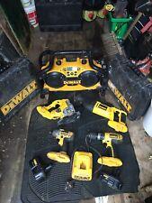 DEWALT CORDLESS TOOL SET Impact Gun, Combo Drill,Reciprocating Saw,Jig Saw,Radio