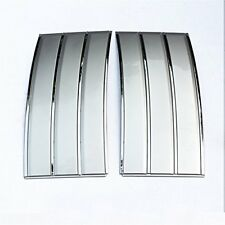 2013-2019 Range Rover L405 Fender Air Side Vents Grille Silver Chrome Accents S1