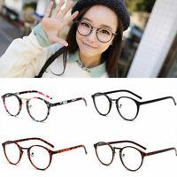 Fashion Round Vintage Retro Frame Clear Lens Nerd Geek Glasses Eyeglass Eyewear
