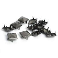 100PCS Metal Punk Rock Square Pyramid Spike Rivet Studs Nailhead DIY Craft