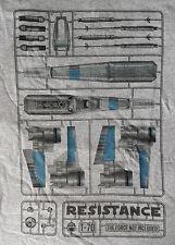 Geek Fuel Star Wars Force Awakens Resistance Poe X-Wing BB8 Model Kit T-Shirt M