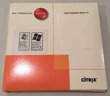 Citrix Software Presentation Server 4.0 4 Microsoft Windows XP 2000 ME 98 NT SET