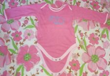Mothercare pink babygrow & pink/purple babygrow age 9-12 months