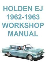 HOLDEN EJ 1962-1963 WORKSHOP MANUAL