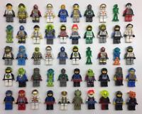 5 LEGO SPACE MINIFIGS LOT pilot alien ufo random bulk figures w/ 5 accessories