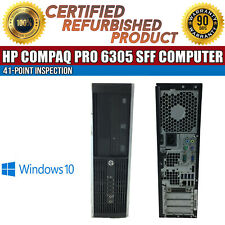 HP Compaq Pro 6305 SFF AMD A6 8 GB RAM 500 GB HDD Win 10 USB VGA B Grade Desktop