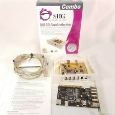 SIIG FireWire dv usb 2.0 Hub No & 4 usb 2 fire wire card adapter w box c1