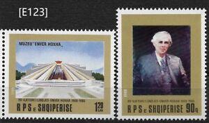 [E123] Albania 1988, E. Hoxha. Gim. 2531-32, Sc.2291-2292. MNH