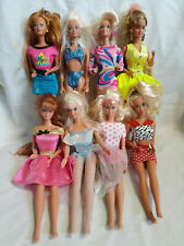 Vtg Barbie Lot 1960's 70's 80's Early 90's Retro Disco 8 Barbies Hot Pink Yellow