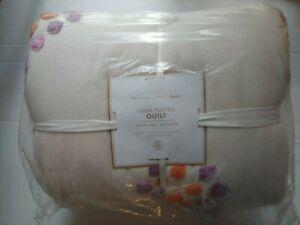 Pottery Barn Teen Luna Diamond Tufted Twin XL Quilt Ivory Pink Multi NWT