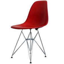 Rojo estilo Eiffel silla lateral Retro de Plástico - 4 opciones de pierna/entrega UK LIBRE