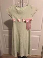 Bonnie Jean Light Green Girls Youth Size 7 Dress