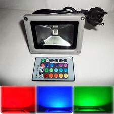 10w Rgb Bombilla Led 16 Colores Reflector Luz de inundación de Jardín Lámpara 85-265v Impermeable