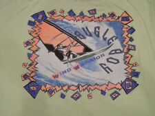 Vtg 80s 90s Bugle Boy Wind Warrior Wind Surfing Neon Graphic T Shirt Xl Hip Hop