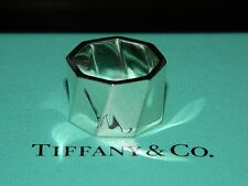 Tiffany & Co Frank Gehry Sterling Silver Torque Octagon Wide Band Ring 4 New Box
