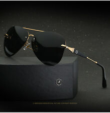 Sunglasses Polarized Driving Mercedes-Benz Glasses With Box Golden frame 743