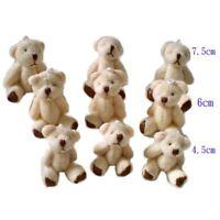 20pcs/lot Kawaii Small Joint Teddy Bears Stuffed Plush 6CM Toy Teddy-Bear Mini