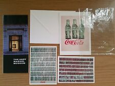Rare Warhol Coca Cola Prints Card From Museum