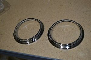 1947-1953 Chevy Pickup Truck Stock Gauge Bezels PAIR dynacorn