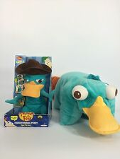 DISNEY PHINEAS AND FERB TRANSFORMING PERRY PLATYPUS PLUSH AGENT P NEW + PILLOW